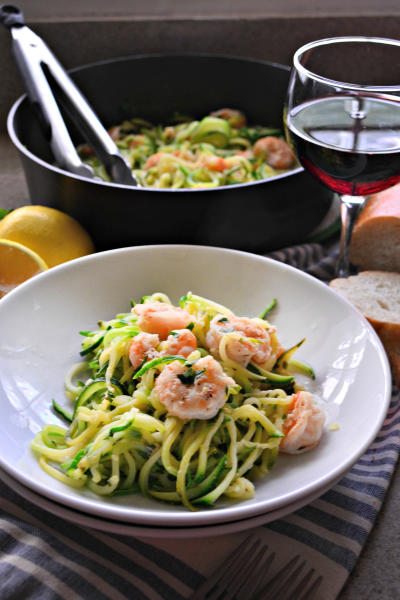 One Pot Zoodle Shrimp Scampi Image