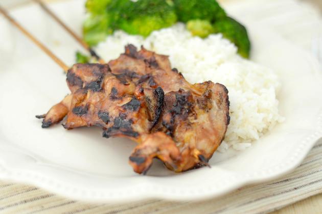 Gluten Free Teriyaki Chicken Skewers Picture