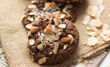 Double Chocolate Almond Joy Cookies Recipe