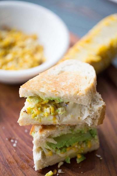 Avocado Grilled Cheese with Roasted Corn Picture