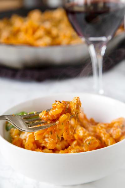 Chicken Parmesan Pasta Skillet Image