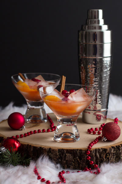 Spiced Cranberry Rum Old Fashioned Pic