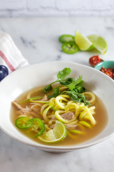 Thai Chicken Soup with Zucchini Noodles Pic