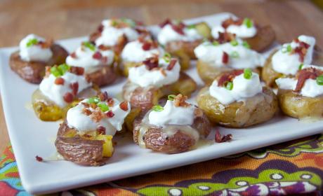 Loaded Smashed Potato Bites Recipe