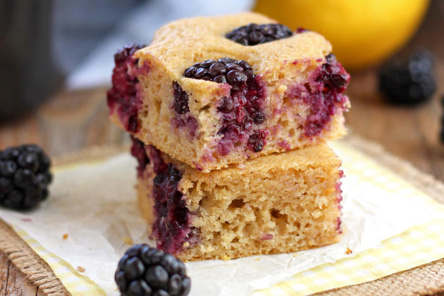 Lemon Blackberry Baked Pancake Image