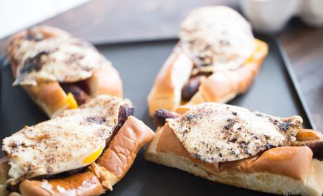 Sausage Egg Breakfast Subs