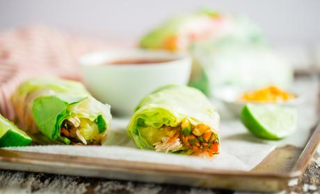 BBQ Chicken Summer Rolls Recipe