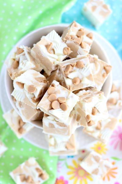 White Chocolate Peanut Butter Cup Fudge Pic