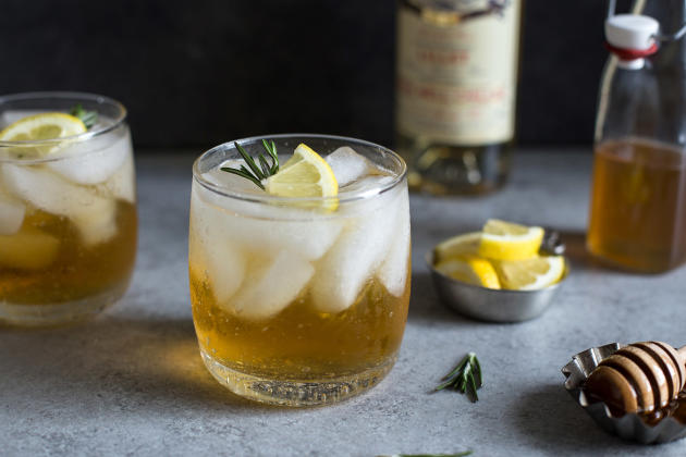 Lillet Spritzer with Honey and Rosemary Photo