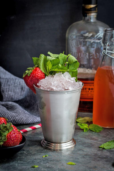 Strawberry Rhubarb Julep Image
