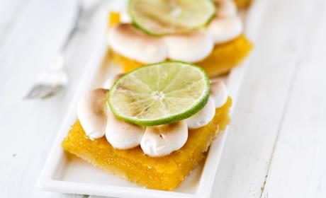 Key Lime Pie Meringue Bars