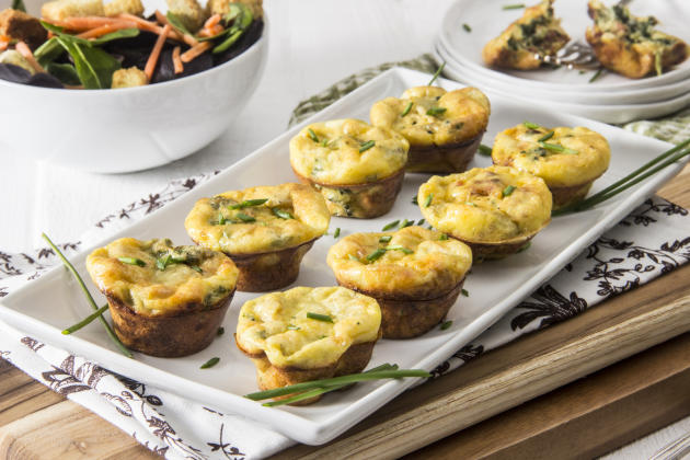 Spinach Artichoke Mini Frittatas Recipe - Food Fanatic