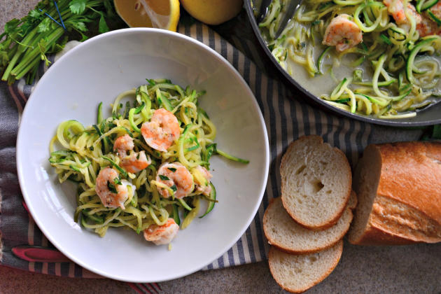 One Pot Zoodle Shrimp Scampi Photo