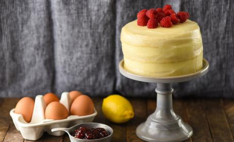Lemon Raspberry Cake for Two