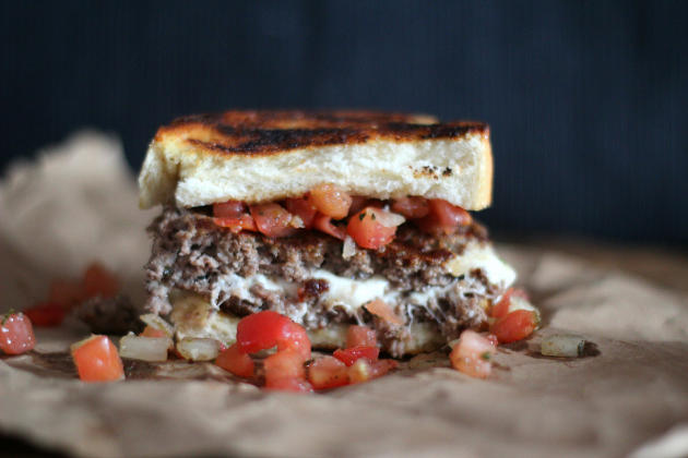 Bruschetta Burger Photo