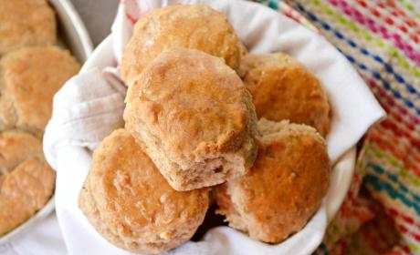 Apple Biscuits with Honey Butter Glaze
