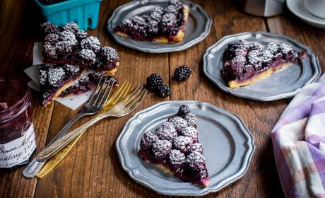 Bourbon Blackberry Jam Bars