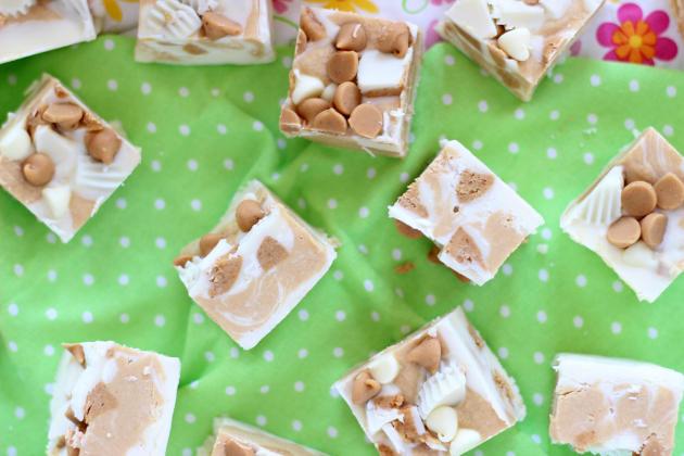 White Chocolate Peanut Butter Cup Fudge Photo