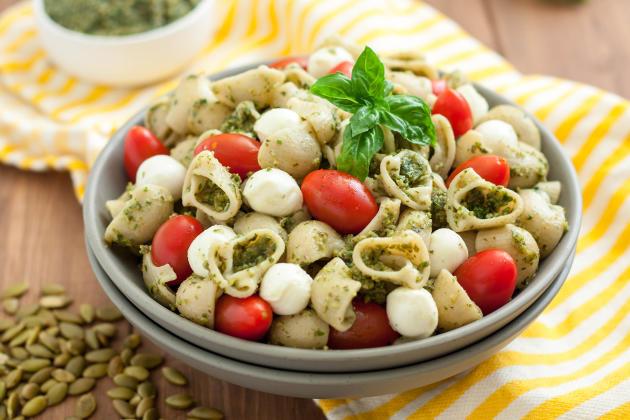 Gluten Free Pasta Salad with Pumpkin Seed Pesto Photo