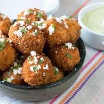 Mexican Arancini with Avocado Cilantro Dipping Sauce Recipe
