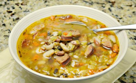 Sausage Bean Soup Warms You Up