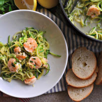 One Pot Zoodle Shrimp Scampi Recipe