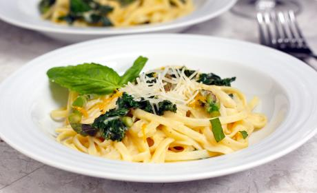 Meyer Lemon Kale Pasta Recipe