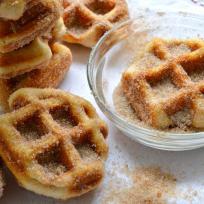 5 Minute Cinnamon Sugar Waffle Bites Recipe