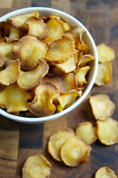 Baked Parsnip Chips Picture