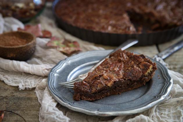 Paleo Chocolate Pecan Tart Photo