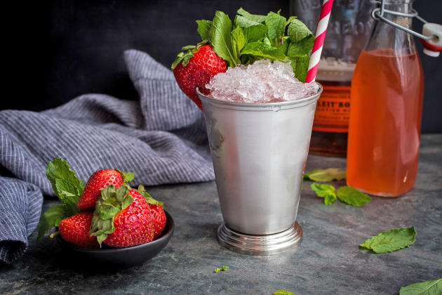 Strawberry Rhubarb Julep Photo