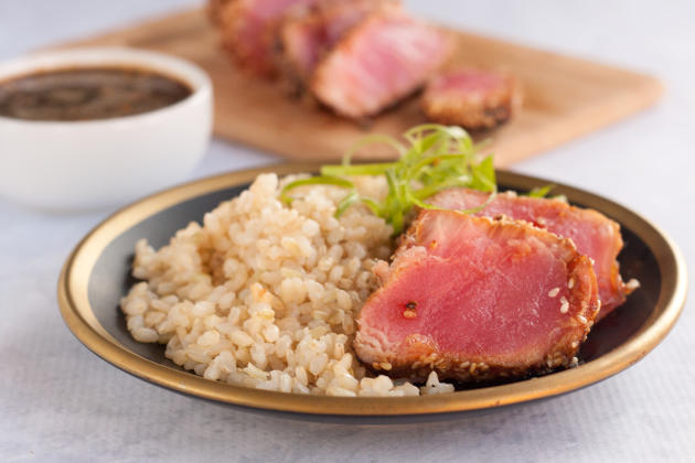 Seared Ahi Tuna Steaks Photo