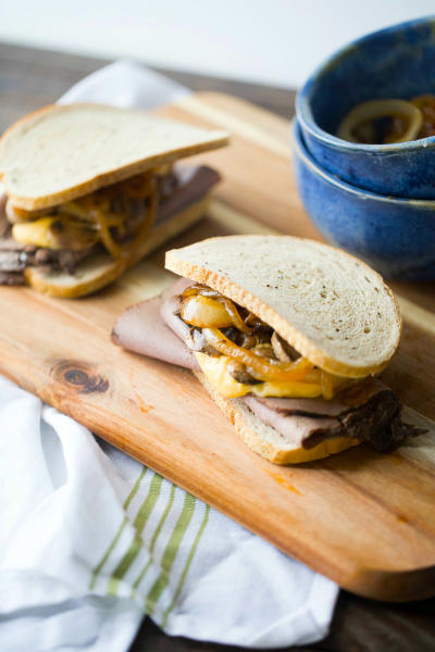 Roast Beef and Cheddar Sandwiches Image
