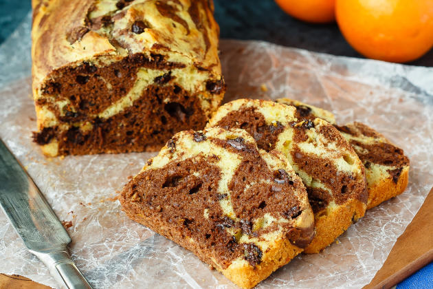 Marbled Chocolate Orange Bread Image