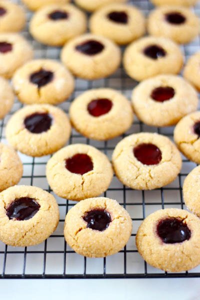 Peanut Butter & Jelly Thumbprint Cookies Picture