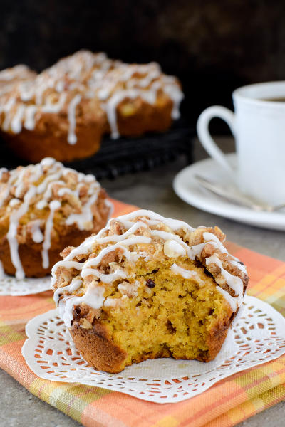 Pumpkin Banana Streusel Muffins Image