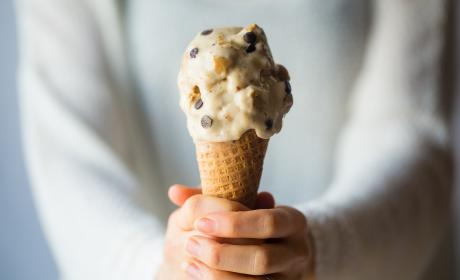 Vegan Banana Ice Cream with Cookie Dough