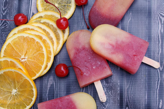 Tequila Sunrise Ice Pops Image