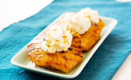 Grilled Pineapple with Mascarpone Whipped Cream