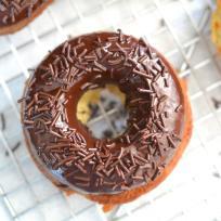Lemon Donuts with Chocolate Glaze Recipe