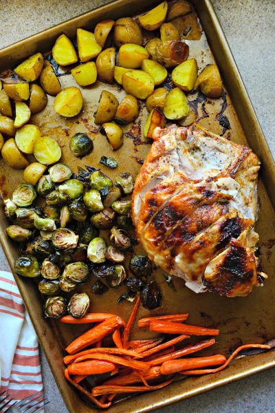 One Pan Honey Roasted Turkey and Vegetables Picture