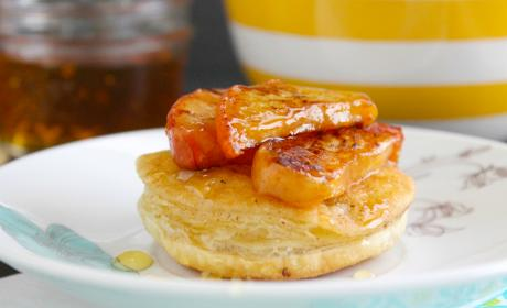 Grilled Peach Puffs Recipe