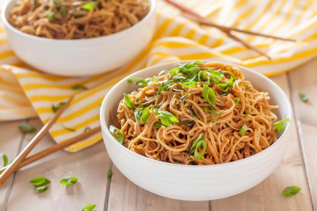 Gluten Free Sticky Garlic Noodles Photo