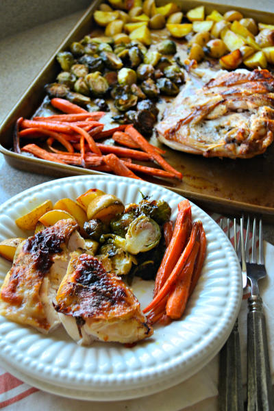 One Pan Honey Roasted Turkey and Vegetables Pic