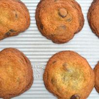 Dark Chocolate Almond Cookies Recipe