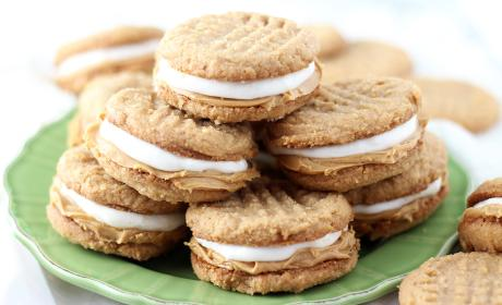 Fluffernutter Cookie Sandwiches