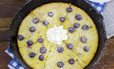 Lemon Blueberry Skillet Pancakes Recipe