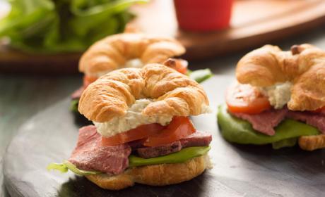 Roast Beef Croissant Sandwiches