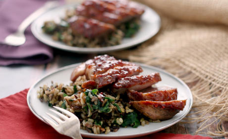 Whiskey Raspberry Glazed Duck Breasts Recipe