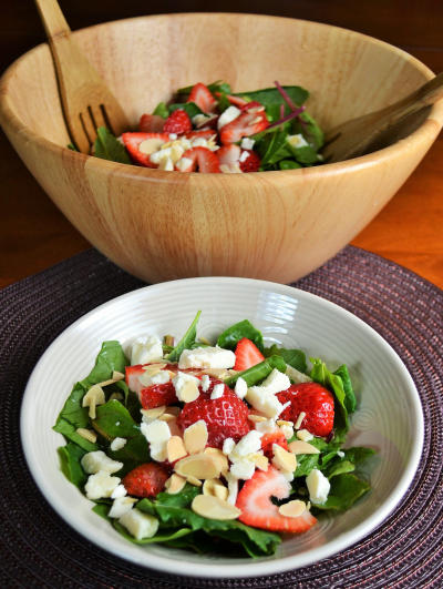 Strawberry Spinach Salad Pic